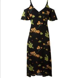 A.L.C. Black Floral Cold Shoulder Dress